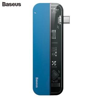 Bộ Hub chuyển đổi 5 trong 1 dùng cho Macbook, iPad Pro thương hiệu cao cấp Baseus CAHUB-TD03 - Màu Xanh