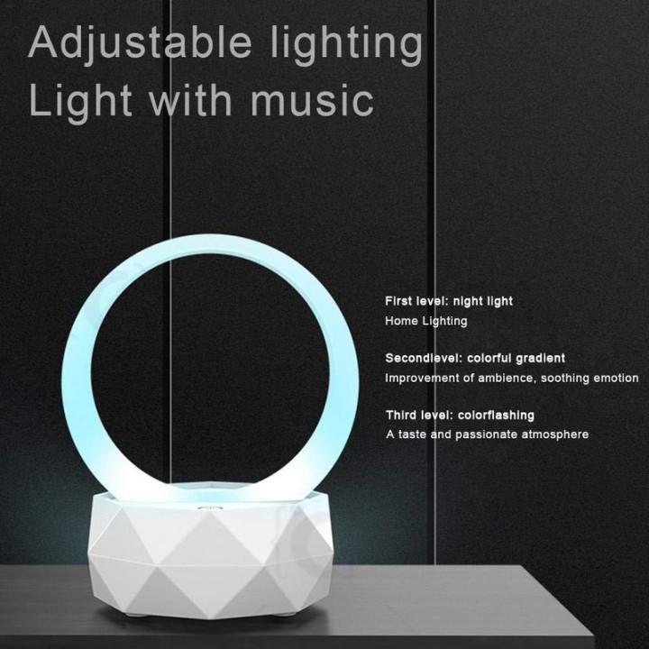 Đèn ngủ tích hợp loa Bluetooth tạo âm thanh du dương dễ ngủ