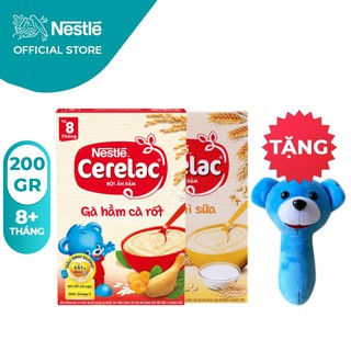 [Tặng Lục Lạc Gấu Cầm Tay] Combo 2 Hộp Bột Ăn Dặm Nestlé Cerelac Gà Hầm Và Lúa Mì 200g Hộp thumbnail