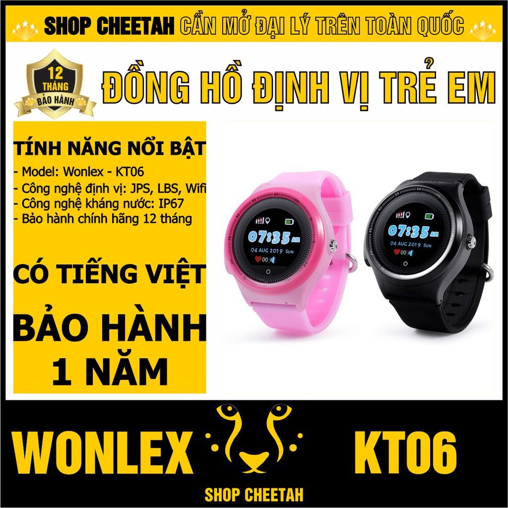 Đồng hồ định vị trẻ em Wonlex KT06 – CHÍNH HÃNG – Kháng nước IP67 – Định vị Wifi/Lbs/Gps/Apgs –Tiếng Việt–Bảo hành 1 năm