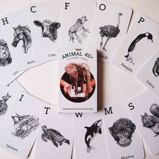 Bộ 31 thẻ ANIMAL 4D cực bổ ích để bé vừa học tiếng Anh vừa tìm hiểu về các loài động vật thumbnail