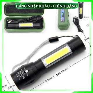 [Cam Kết Loại 1] Bộ đèn pin siêu sáng mini pin sạc điện usb bóng led có zoom chống nước cầm tay chuyên dụng