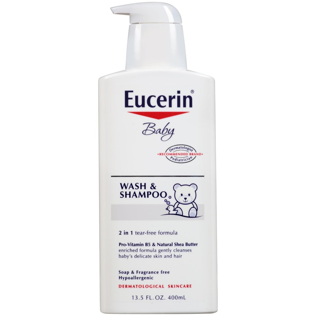Sữa Tắm Gội Cho Bé Eucerin 2 Trong 1 400ml Baby Wash & Shampoo