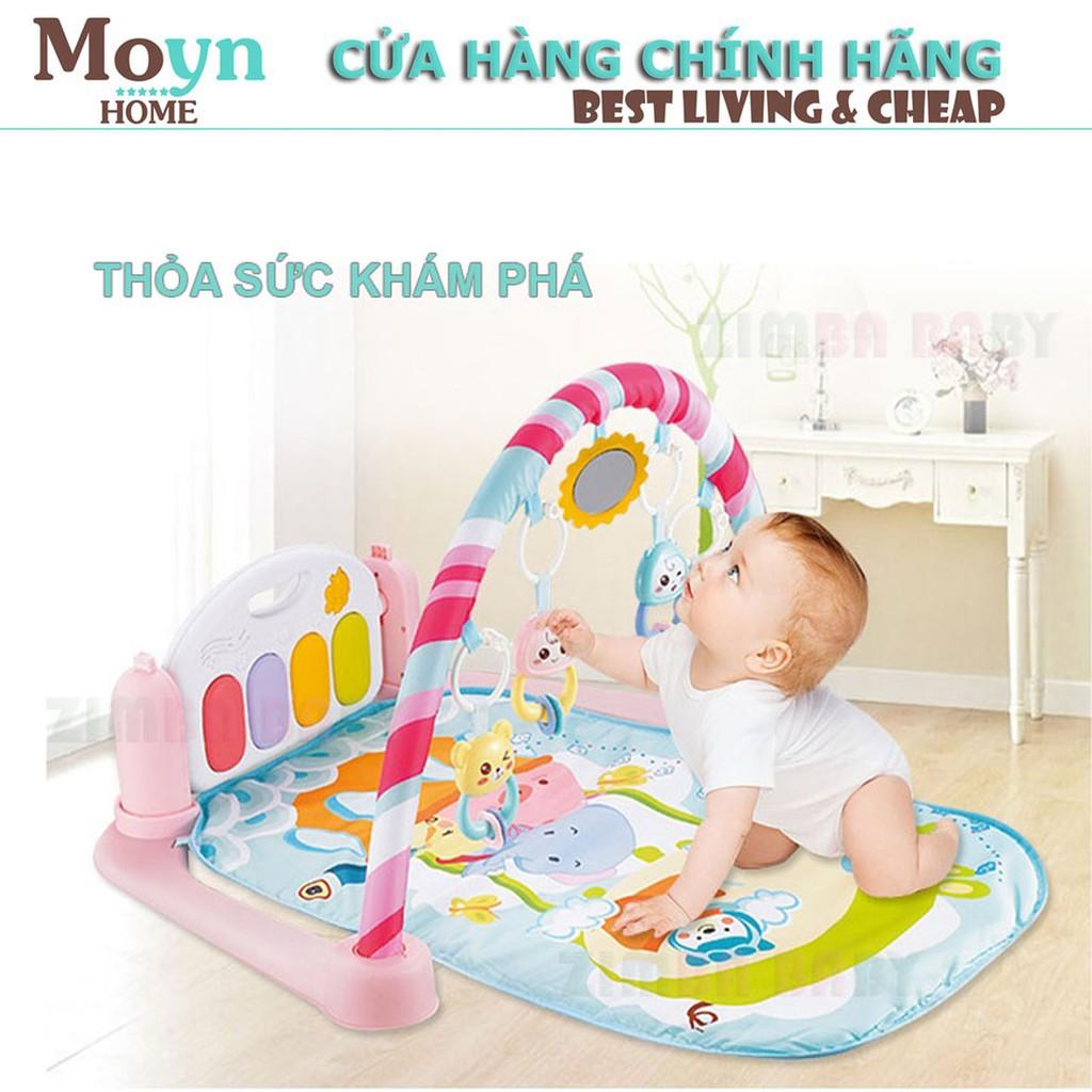 Thảm đàn đồ chơ cho trẻ sơ sinh đến 18 tháng tuổi nằm chơi Zimba Baby Đa năng Moyn home