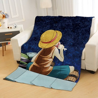 Chăn Vải Flannel In Hoạt Hình Luffy Dễ Thương Cho Bé