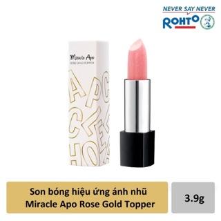 Son đẹp không vỏ - Son bóng hiệu ứng ánh nhũ Miracle Apo Rose Gold Topper thumbnail