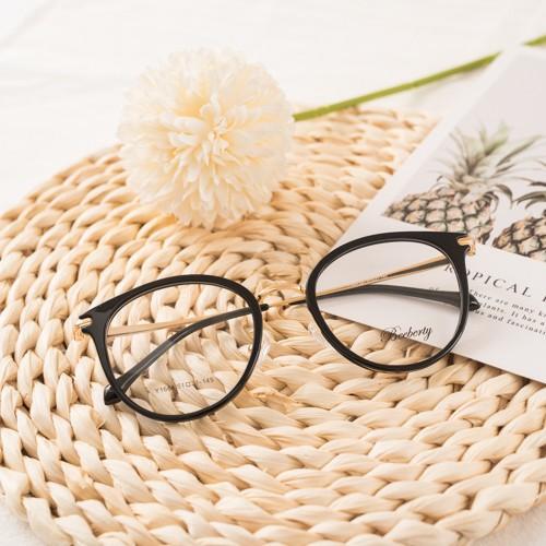 ▥▦Gọng kính cận nam nữ Elmee mắt tròn chất liệu nhựa phối kim loại kiểu dáng thời trang nhiều màu...