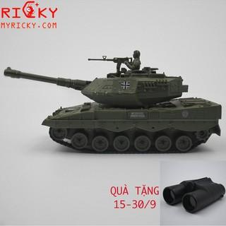 [TẶNG ỐNG NHÒM]Xe tăng Đức Leopard 2 điều khiển bánh xích pin sạc