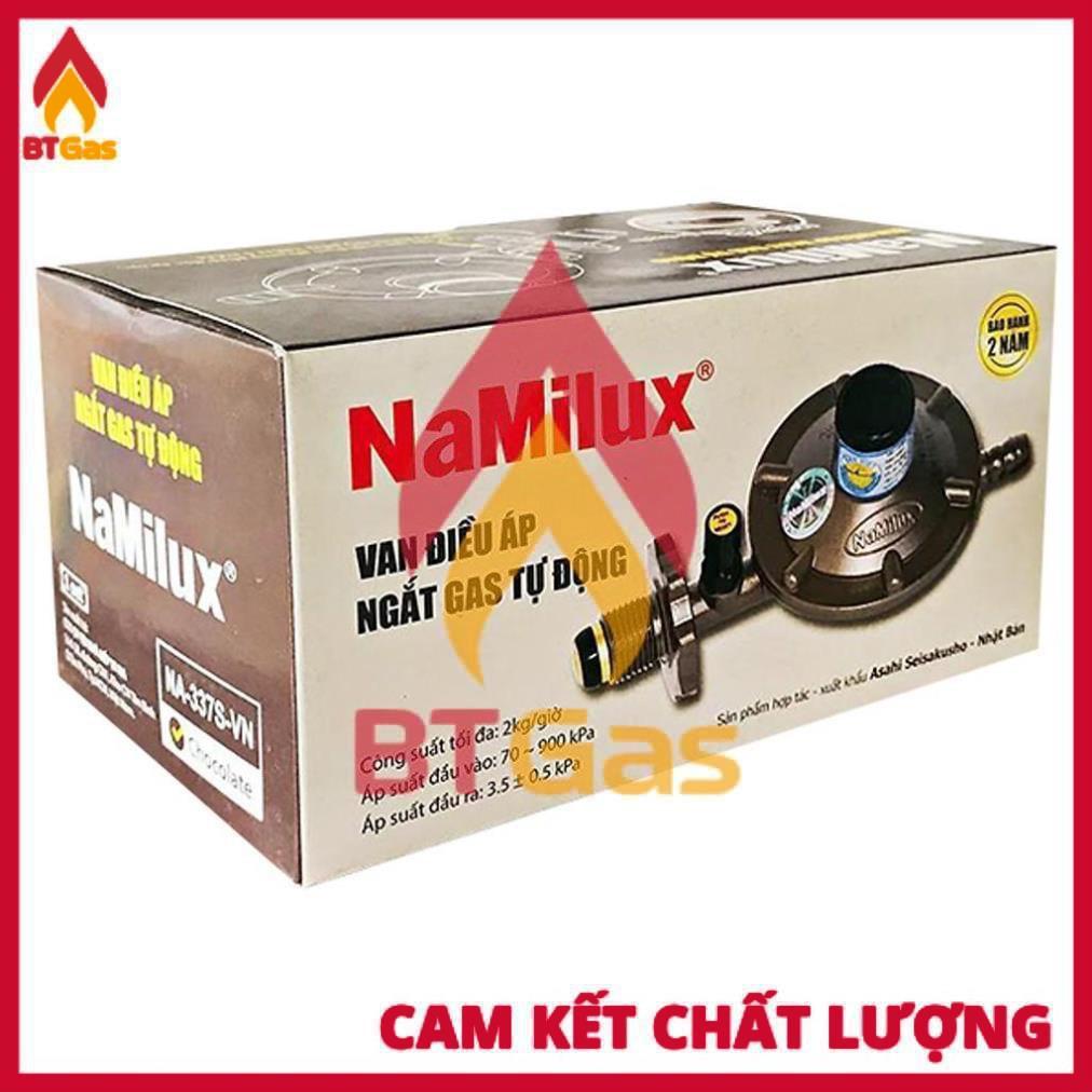 Van Gas Namilux + Dây Gas + Cổ Dê / Van Gas Điều Áp Ngắt Gas Tự Động / NaMilux