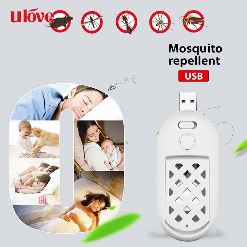 UVE Portable USB Mosquito Killer Ultrasonic Speaker Bug Anti-Mosquito Repellent Mosquito-Flavor Heater Giá chỉ 72.732₫