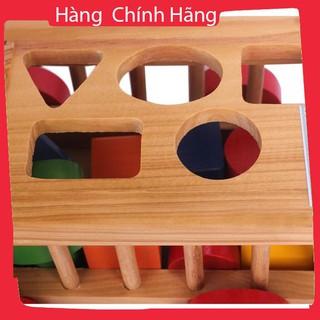 Đồ chơi xe cũi thả hình bằng gỗ_Hàng tốt