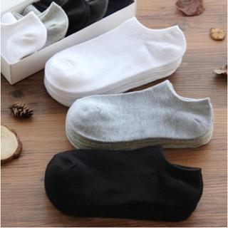 Korean Style Men's Women Sock Short Neck Plain Color Anti Slip Korean Style