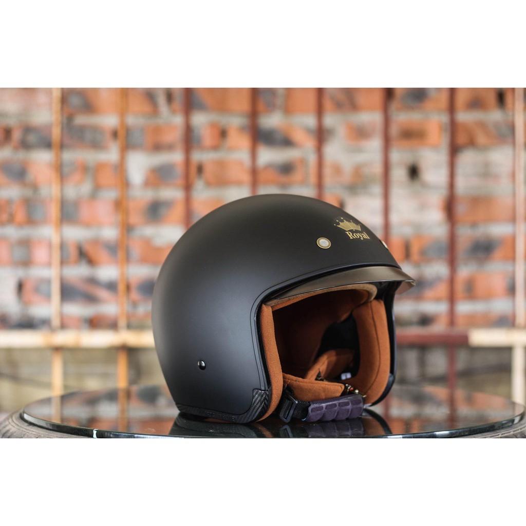 Mũ bảo hiểm 3/4 Royal Kính Âm - Nhiều Màu Lựa Chọn