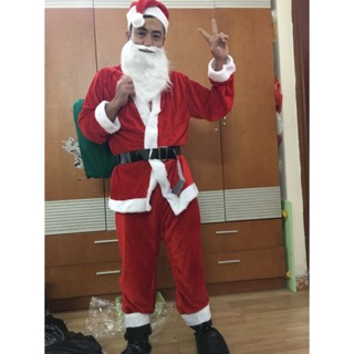 Quần áo Ông già Noel nhung