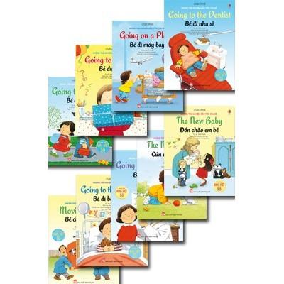 Sách - Những Trải Nghiệm Đầu Tiên Của Bé (Bộ 9 Cuốn - Song ngữ Anh Việt với hơn 50 hình dán)
