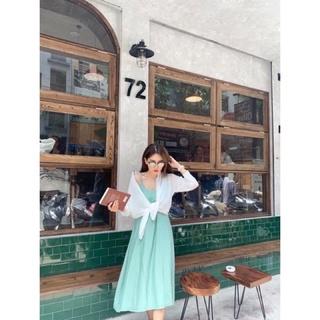 Váy Maxi Lụa Đũi 2 Dây Trơn Dáng Xuông