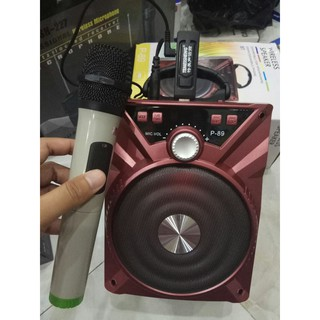 Loa Bluetooth karaoke nghe nhạc công suất cao + 1 Mic không dây hút âm mạnh IP90108