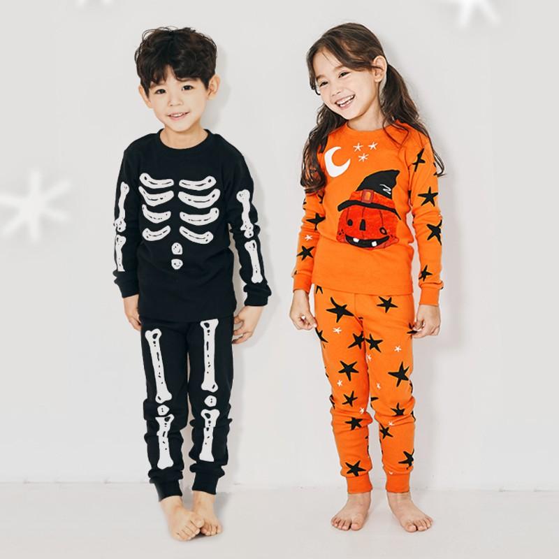 Bộ đồ cotton Halloween cho bé gái và bé trai của Unifriend Hàn Quốc