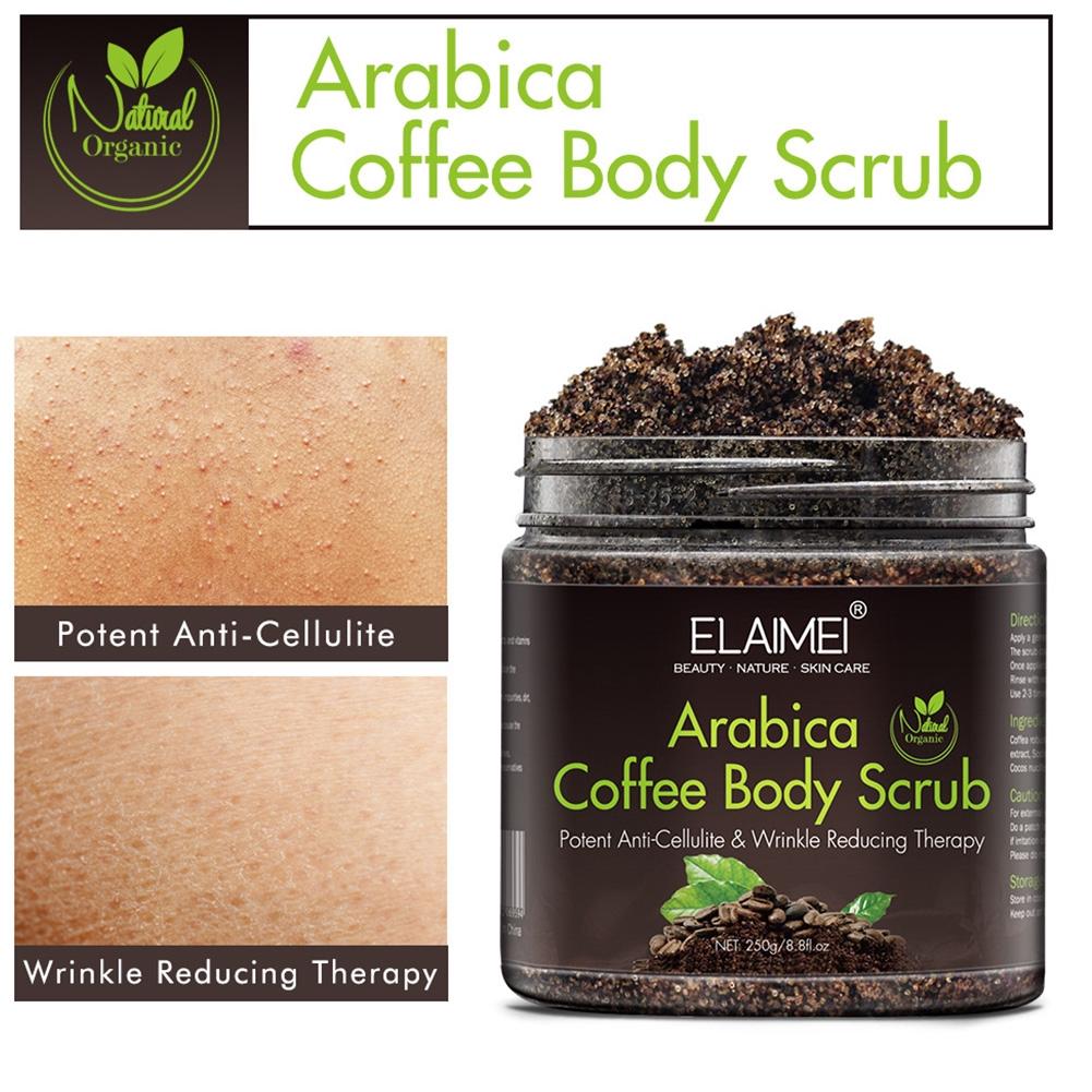 Facial Detoxifying Exfoliating Anti Cellulite Arabica Coffee Skin Care Deep Clean Moisture Whiten Body Scrub