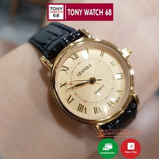 Đồng hồ nữ dây da Qianba chống nước chính hãng Tony Watch 68 giá rẻ thumbnail