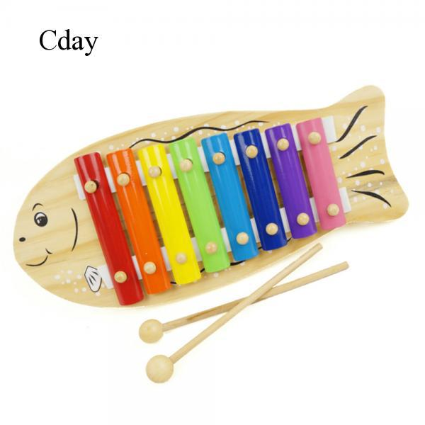 Cday Cartoon Fish Shape Knocking Musical Toy