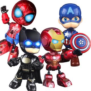 Avengers Superhero Toy Spiderman Iron man With Light and Sound Kids Action Finger Toy