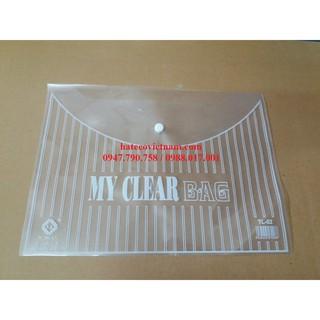 Túi Clearbag khổ A trung TL02 (túi khuy, túi cúc, bìa nút)