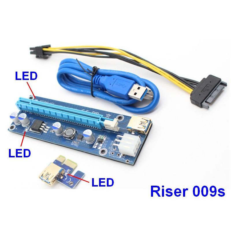 DÂY RISER PCIe 1X TO 16X USB 3.0 VER 009S (mới nhất) - 3347567 , 767477971 , 322_767477971 , 100000 , DAY-RISER-PCIe-1X-TO-16X-USB-3.0-VER-009S-moi-nhat-322_767477971 , shopee.vn , DÂY RISER PCIe 1X TO 16X USB 3.0 VER 009S (mới nhất)