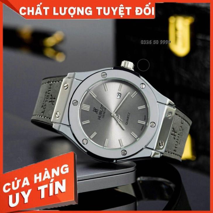 (Hublot.viền trơn)  [Hàng đẹp] Đồng hồ nam Hublot - Bản classic máy pin - Fullbox tặng vòng tay - Bảo hành 12 tháng