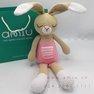 Thỏ Bunny Ngủ – Thú len nhồi bông cao cấp Amiu Việt Nam