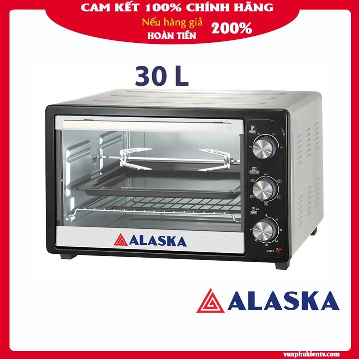 Lò nướng điện Alaska KW-30C 30 lít chính hãng bảo hành 12 tháng đa năng nướng bánh sấy hoa quả rã đông tiện lợi