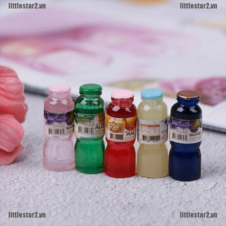{MUV} 5pcs 1:12 scale miniature dollhouse drink bottle mini food play kids kitchen toy{FC}