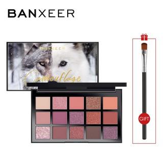 Bảng phấn mắt BANXEER 15 màu sắc tông lì/lấp lánh trang điểm tiện dụng 200g