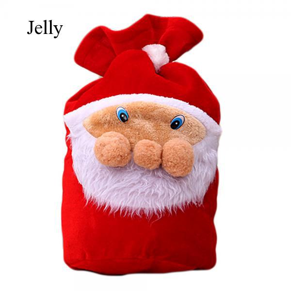 Christmas Candy Bags Xmas Santa Claus Backpack for Favors Gifts Toy Sack J943