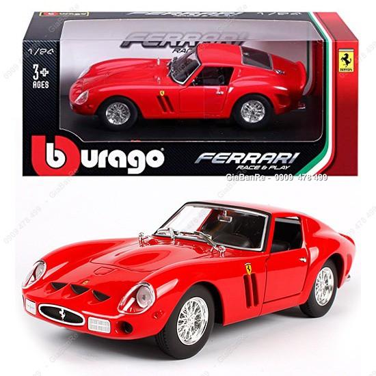 MS: 8160 - XE MÔ HÌNH SẮT TỈ LỆ 1:24 - FERRARI 250 GTO - ĐỎ