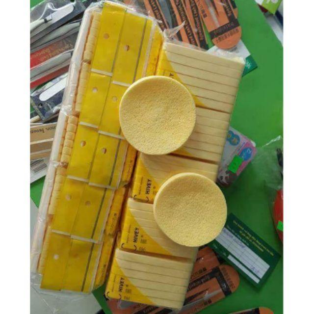 combo 20 gói bông mút rửa mặt nén ChiVey Nhật Bản
