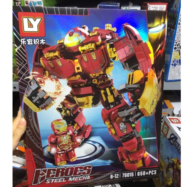 Lego xếp hình super heroes avengers hulkbuster iron man người sắt & Thanos