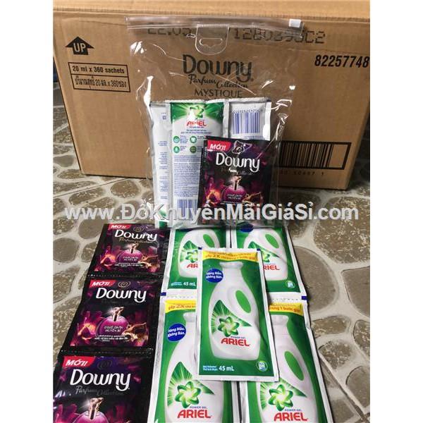 Bộ 5 gói nước giặt Ariel + 3 gói nước xả Downy + 1 túi đựng nhựa trong. - 3347734 , 750926951 , 322_750926951 , 16000 , Bo-5-goi-nuoc-giat-Ariel-3-goi-nuoc-xa-Downy-1-tui-dung-nhua-trong.-322_750926951 , shopee.vn , Bộ 5 gói nước giặt Ariel + 3 gói nước xả Downy + 1 túi đựng nhựa trong.