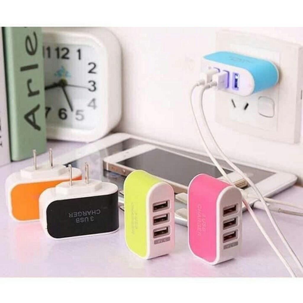 [RẺ VÔ ĐỊCH] Cốc Sạc 3 Cổng USB 3.1 Thế Hệ Mới
