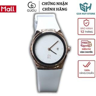 Hàng Xịn Đồng hồ nữ chính hãng GUOU , đồng hồ nữ đẹp dây silicon thời trang GU8160 mặt tròn kích thước 31mm thumbnail