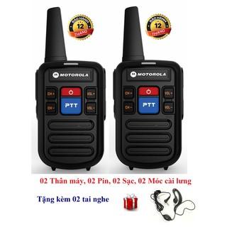 [Mã ELMSBC giảm 8% đơn 300K] Bộ 2 Bộ đàm siêu nhỏ chất lượng khủng Motorola GP800 (2 Phím bấm PTT)