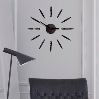 Đồng hồ nhựa Acrylic 3D tráng gương độc đáo dán trang trí tường DIY