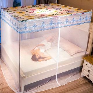 ✚❧Mùng chống muỗi mẫu mới 1.8 Đôi Mã hóa giường 2m 1,5 Giá đỡ giường hộ gia đình cực che chống bụi đơn 1,2m
