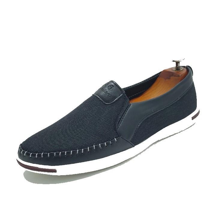 Giày lười nam vải bố cao cấp VB01 có 4 màu nâu - đen- xanh -kem