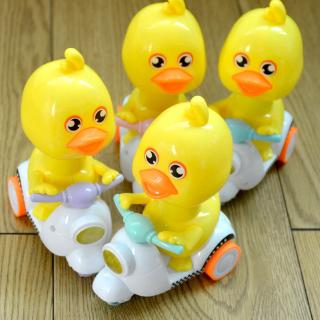 Cartoon inertia little yellow duck push duck back car cute cute little yellow duck toy car