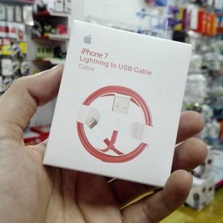 Cáp sạc iPhone iPad Lightning Đỏ Chính Hãng Foxconn thumbnail
