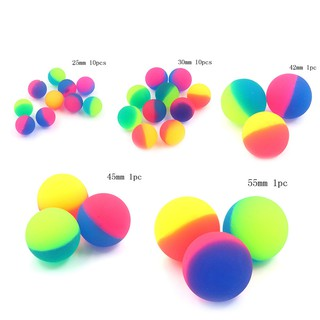1/10 pcs Moonlight High Bounce Ball Elastic Juggling Jumping Balls Bouncing Ball Outdoor Toys Play Fun