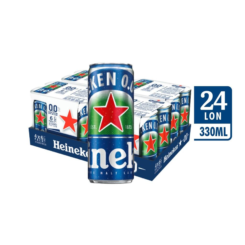 Lốc 24 lon Heineken 0.0 (330ml/lon)