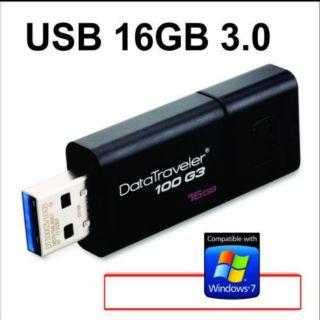 Usb 3.0 16GB kingston DT100G3 tích hợp bản cài w7
