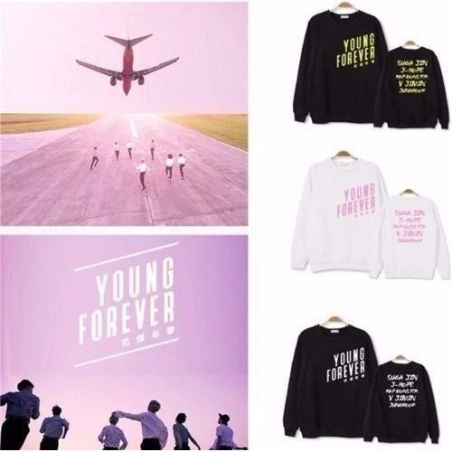 [NEW] Áo BTS hoodie Young Forever - Áo khoác nỉ